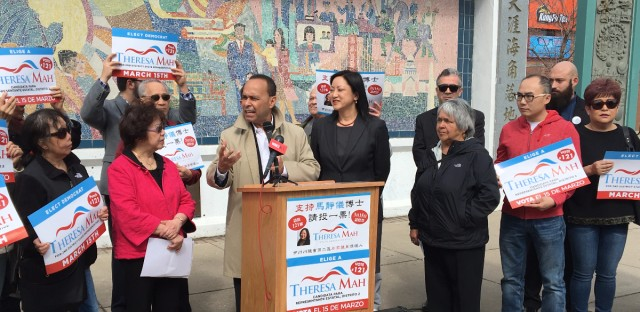 Rep. Luis Gutierrez (D-4th) has accused Theresa Mah's opponent in the 2nd state legislative district race of running a campaign that is racist against Chinese.