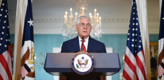 "Secretary of State Rex Tillerson said at a briefing Wednesday that a news report that he intended to resign was ""intended to divide"" and that he was ""not going to deal with petty nonsense."""