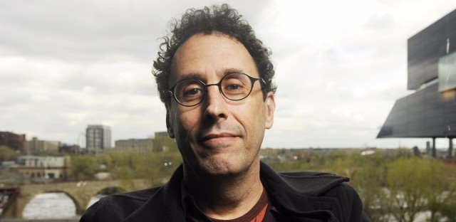 Tony Kushner poses for a photo during a break from rehearsal of his new play at the Guthrie Theatre in Minneapolis, Minn., Thursday, April 30, 2009.