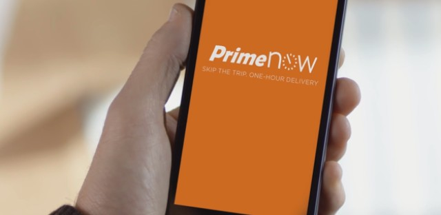 The newest feature on Amazon's mobile app, Prime Now, allows for Chicago users to request food deliveries from local restaurants.