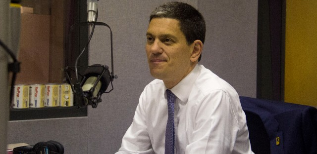 International Rescue Committee President and CEO David Miliband visits the WBEZ studios on Tuesday, Oct. 17, 2017.