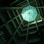 A skylight illuminates the atrium rotunda which connects the three new or converted buildings of the Symphony Center complex in Chicago on Wednesday, Oct. 1, 1997.