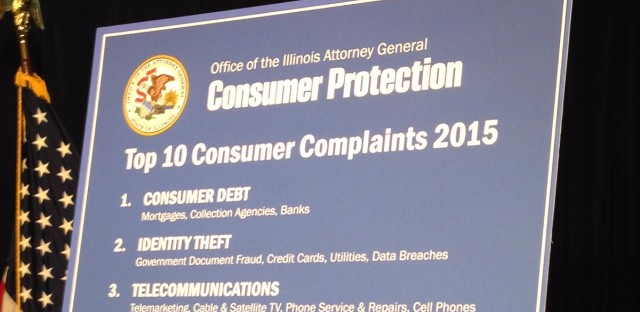 Identity theft is at the top of Illinois Attorney General Lisa Madigan's list of Top Ten Scams of 2015