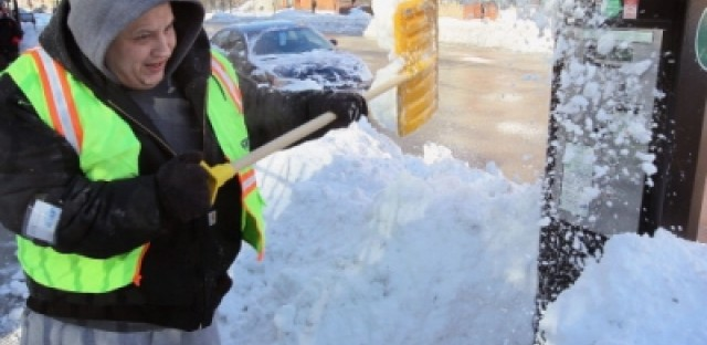 Chicagoans began 2011 digging out their cars after a blizzard hit the city in early February.