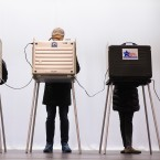 Voters casts their ballots in primary elections on March 15 in Chicago, Illinois.