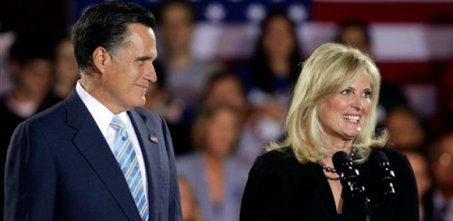 The Romney's at an election night rally in New Hampshire.