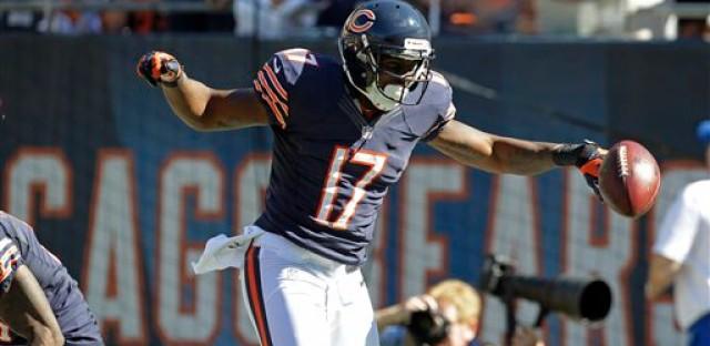 Alshon Jeffery enjoys his first NFL touchdown.