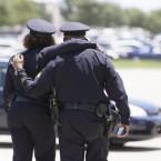 cop police hug
