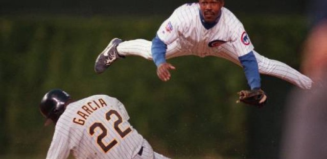 Shawn Dunston in his last year with the Cubs 1997
