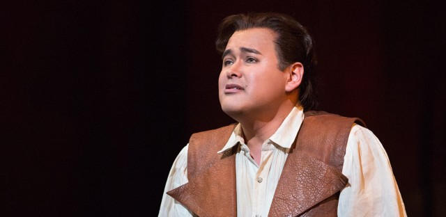 Tenor Javier Camarena got to sing a rare encore while playing the role of Ernesto in the Metropolitan Opera production of Donizetti's Don Pasquale.
