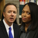 Chicago Public Schools CEO Forrest Claypool (left) on Friday announced his resignation. Chief Education Officer Janice Jackson was named interim CEO.