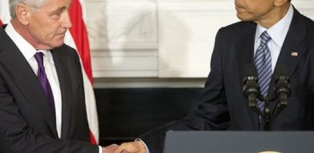 Defense Secretary Hagel resigns
