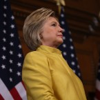 Democratic presidential candidate Hillary Clinton spoke about counterterrorism strategy during address at Stanford University on March 23, 2016.