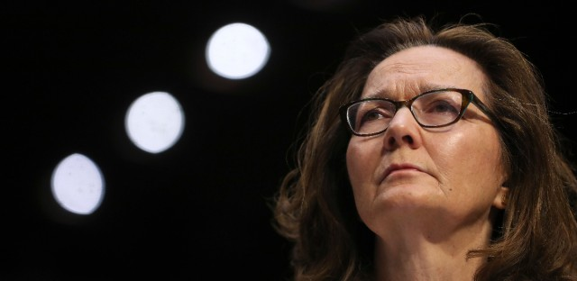 CIA nominee Gina Haspel testifies during a confirmation hearing of the Senate Intelligence Committee, on Capitol Hill, Wednesday, May 9, 2018 in Washington.