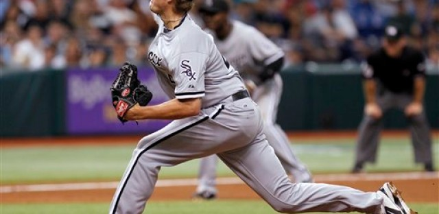 White Sox closer Addison Reed averages 97 to 98 mph.