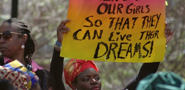 Rally draws attention to kidnapped Nigerian girls