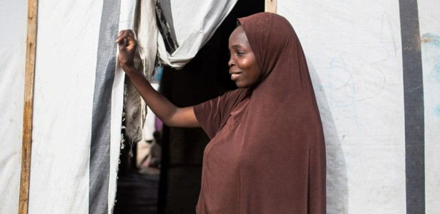 """The husbands ran when Boko Haram took over the Nigerian village of Gwoza. Fati, 22, was one of the wives left behind. After five months, she and other women escaped and now live in a camp for displaced people. Because of the stigma of being a Boko Haram abductee, she says she sometimes is """"verbally abused"""" by other residents. But she's found one good friend."""