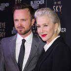 "Aaron Paul, left, and Helen Mirren attend the premiere of ""Eye In The Sky"" at AMC Loews Lincoln Square on Wednesday, March 9, 2016, in New York. (Photo by Charles Sykes/Invision/AP)"