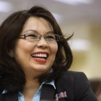 FILE - In this Aug. 13, 2014, file photo, Illinois Democratic U.S. Senate candidate, Rep. Tammy Duckworth, appears in Springfield, Ill. The Chicago Tribune has endorsed Duckworth D-Ill., for U.S. Senate, saying incumbent Republican Mark Kirk can no longer perform the job after a stroke.