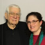 Hal Bergen and his daughter Kathy Bergen visited the StoryCorps booth at the Chicago Cultural Center.