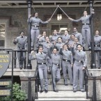West Point cadets pose for a pre-graduation photo. The fist-raising is the center of an investigation by the military academy. Among the commentators on the incident is veteran John Burk, who posted this photo on his website.