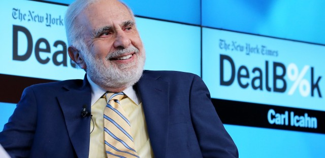 Chairman of Icahn Enterprises Carl Icahn participates in a panel discussion in 2015.