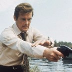 """Roger Moore — seen here filming Live and Let Die, his debut as James Bond — described his most famous role as """"a lover and a giggler."""""""