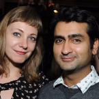 Married couple Emily V. Gordon and Kumail Nanjiani co-wrote the romantic comedy The Big Sick, which is based on their own love story. Angela Weiss/Getty Images