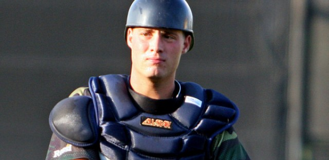 Catcher Jeff Kunkel with one of the Detroit Tigers' minor league teams.