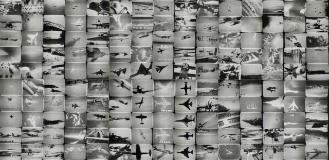 """An exhibition at The Getty Center in Los Angeles features some 200 works of news-inspired art, dating back to the 1960s. Above,<em> The Air Power of the World</em> from Masao Mochizuki's 1976 """"Television"""" series."""