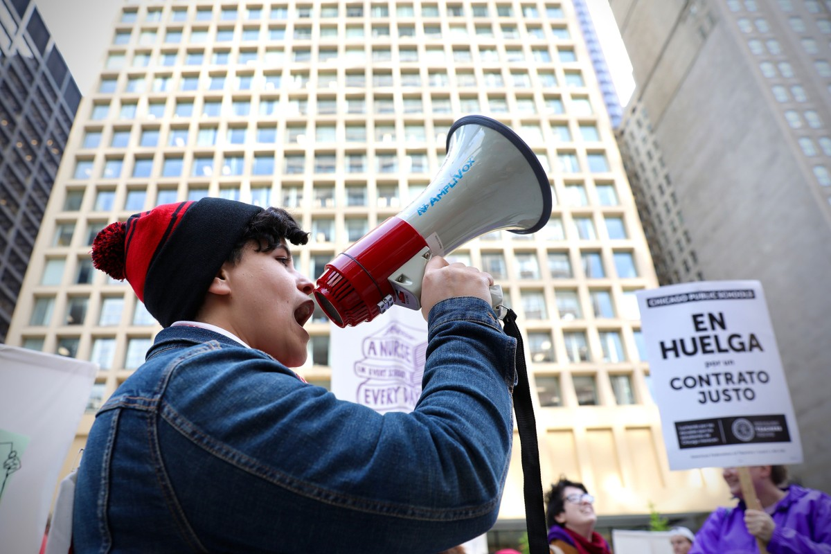 Daley Plaza Strike Rally