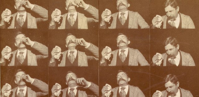 Edison kinetoscopic record of a sneeze, taken around 1894.