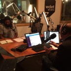 Mark Crain with Worldview's Jerome McDonnell at WDET.