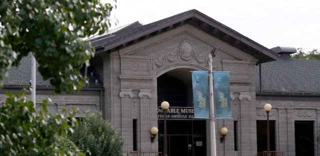 This photo shows the exterior of the DuSable Museum of African American History Thursday, Sept. 22, 2016, in Chicago. The museum will celebrate the dedication and official opening of the Smithsonian Institution's National Museum of African American History and Culture in Washington, with a free watch party on Saturday, Sept. 24.