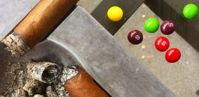 Because a high pH level makes cigars fairly alkaline, consuming tart candies like Skittles or Starbursts can help neutralize the palate.