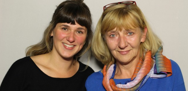Agatha Vonderberg brought her mom, Margaret Wieczorek, to the StoryCorps booth.
