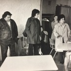 Raquel Guerrero, second from the right and seen here in a meeting in the 1970s, died this week. She was 84.