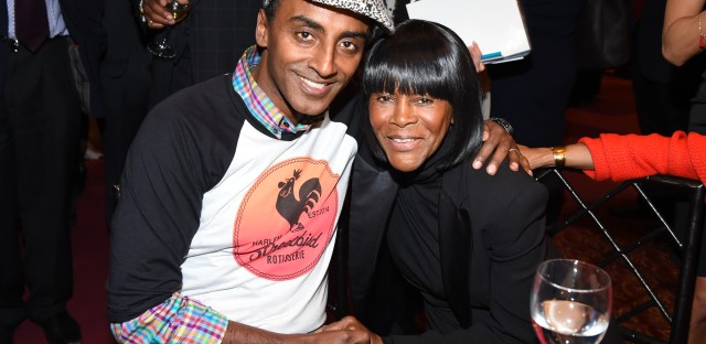 Chef Marcus Samuelsson and actress Cicely Tyson attend the 25th Anniversary Benefit for Careers through Culinary Arts Program (C-CAP) at Pier Sixty on Tuesday, March 3, 2015, in New York. (Photo by Scott Roth/Invision/AP)