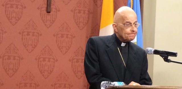 Cardinal Francis George speaks earlier this year.
