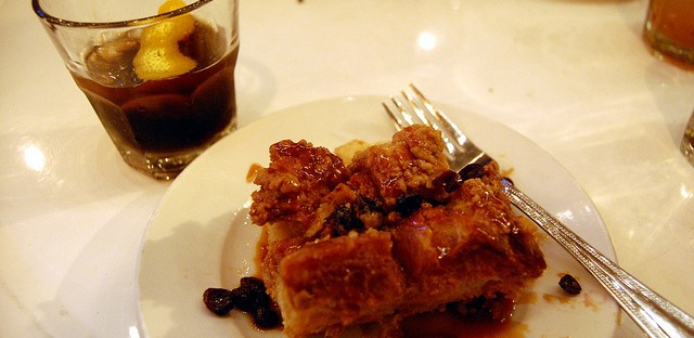 Templeton Rye infused bread pudding smoked Coke Manhattan