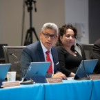 City Colleges of Chicago Chancellor Juan Salgado addresses the board of trustees in February. The board is expected to vote on a proposed tuition increase at their next board meeting in March.