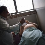 A pregnant woman gets an ultrasound in Guatemala City on Feb. 2, monitoring for the birth defect microcephaly.