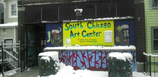 The current South Chicago Art Center location at 3217 E. 91st Street.