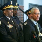 Chicago Mayor Rahm Emanuel, right, and Chicago Police Superintendent Eddie Johnson appear at a news conference in Chicago, Tuesday, March 26, 2019.