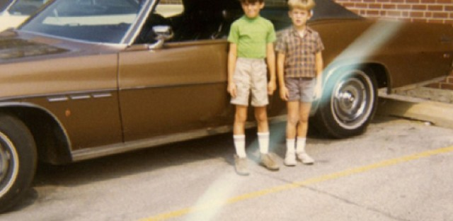 Hainey and his brother as children in Chicago.