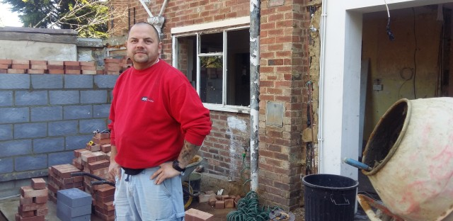 Krzystof Przadak, a Polish builder who has lived in Britain for 12 years, at a house he's renovating in a London suburb. Przadak says he now earns 10 times what he did in Poland, but he's uncertain what will happen to him and other Poles in Britain if the U.K. votes to leave the EU on June 23.