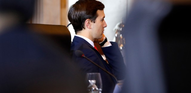 White House senior adviser Jared Kushner listens to translation as Chinese Vice Premier Wang Yang speaks during the opening of the U.S.-China Comprehensive Economic Dialogue, Wednesday, July 19, 2017, at the Treasury Department in Washington. (AP Photo/Jacquelyn Martin)