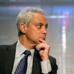 Chicago Mayor Rahm Emanuel participates in a panel discussion entitled: Reducing Violence and Strengthening Police/Community Trust, Wednesday, Jan. 20, 2016, during the U..S. Conference of Mayors Winter Meeting in Washington.
