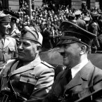Adolf Hitler and Benito Mussolini in Munich, Germany.