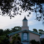 The mosque in Fort Pierce, Fla., where Pulse nightclub shooter Omar Mateen had worshipped, is shown on June 14. A fire broke out at the Islamic Center of Fort Pierce early Monday.
